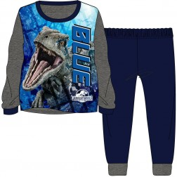 Children's Jurassic World 'Blue' Pyjamas - Grey/Navy