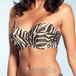 Fantasie Brasillia Bandeau Bikini Top - Truffle