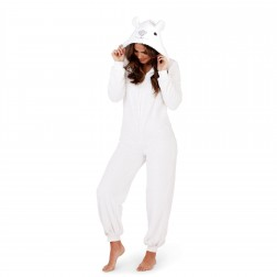 Loungeable Boutique Polar Bear Onesie - White