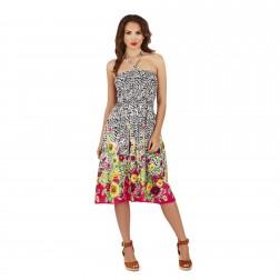 Pistachio Sunflower 3 in 1 Dress - Black/Pink