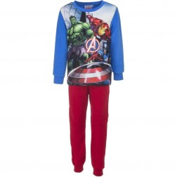 Marvel Avengers Polar Fleece Pyjamas - Blue/Red