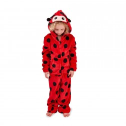 Nifty Kids Ladybird Fleece Onesie