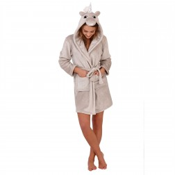 Loungeable Boutique Sparkle Unicorn Robe - Silver