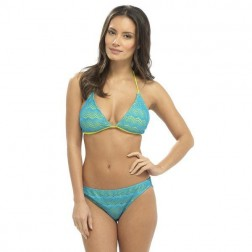 Tom Franks Crochet Bikini Set - Blue/Lime