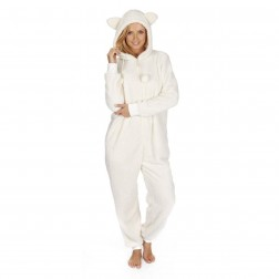 Onezee Snuggle Fleece Onesie - Cream