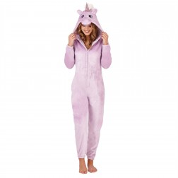 Loungeable Boutique Sparkle Unicorn Onesie - Lilac