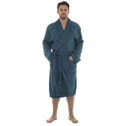 Tom Franks Cotton Towelling Robe - Green