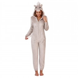 Loungeable Boutique Sparkle Unicorn Onesie - Silver