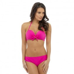 Tom Franks Solid Bikini Set - Pink