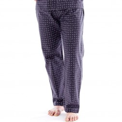Harvey James Mens Paisley Flannel Lounge Pants (2 Pack) - Grey