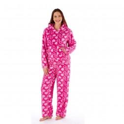 Selena Secrets Heart Print Twosie Pyjamas - Pink