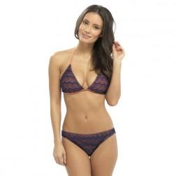 Tom Franks Crochet Bikini Set - Navy/Coral