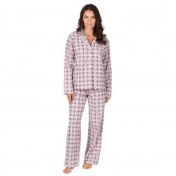 Forever Dreaming Flannel Check/Heart Pyjama Set - Cream