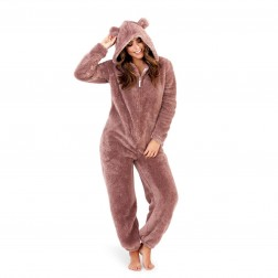 Loungeable Boutique Sherpa Fleece Onesie - Taupe