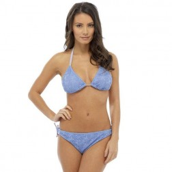 Tom Franks Crochet Bikini Set - Blue