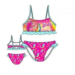 Girls Barbie Rainbow Bikini Set - Pink/Blue