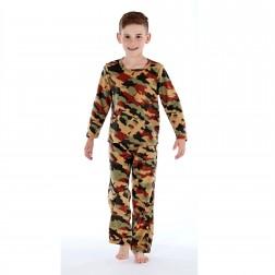One 07 Boys Army/Camo Print Pyjamas - Green
