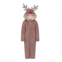 Nifty Kids Reindeer Fleece Onesie