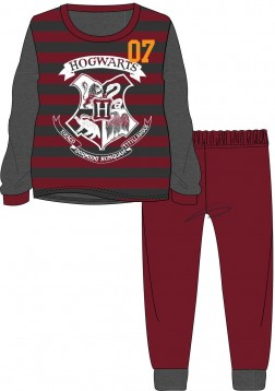 Boys Harry Potter Hogwarts Pyjamas - Grey/Burgundy