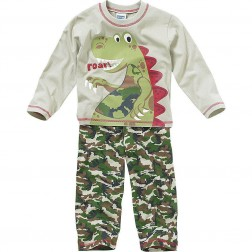 Children's Camouflage Dinosaur Pyjamas - Green