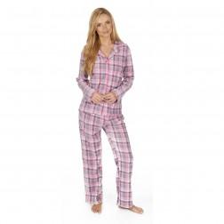 Forever Dreaming Microfleece Check Pyjama Set - Quarry Check