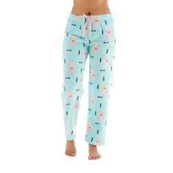 Selena Secrets Ladies Fox Print Fleece Lounge Pants