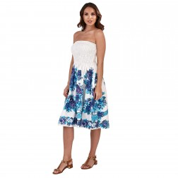 Pistachio Rose Print 3 in 1 Dress - Blue