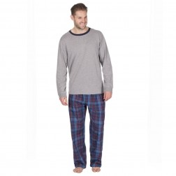 Cargo Bay Mens Jersey/Woven Pyjamas - Grey