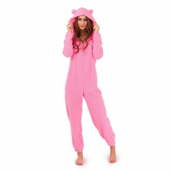 Loungeable Boutique Sherpa Fleece Onesie - Pink