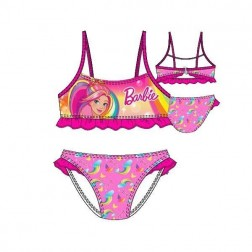Girls Barbie Rainbow Bikini Set - Pink