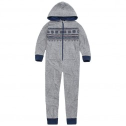 Onezee Fairisle Fleece Onesie - Grey