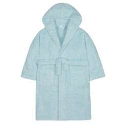 Kids Two Tone Fleece Robe - Aqua