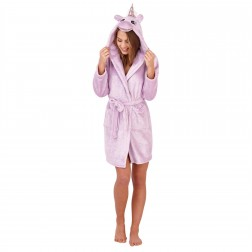 Loungeable Boutique Sparkle Unicorn Robe - Lilac