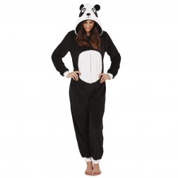 Loungeable Boutique Panda Onesie - Black/White