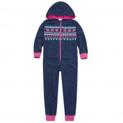 Onezee Fairisle Fleece Onesie - Blue/Pink