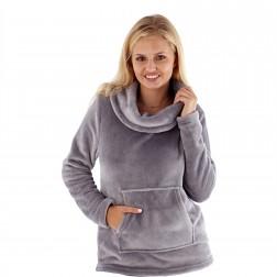 Masq Flannel Fleece Snuggle Top - Grey