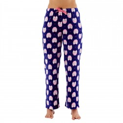 Selena Secrets Ladies Owl Print Fleece Lounge Pants