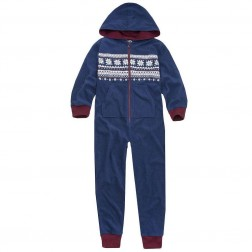 Onezee Fairisle Fleece Onesie - Blue