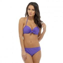 Tom Franks Solid Bikini Set - Purple