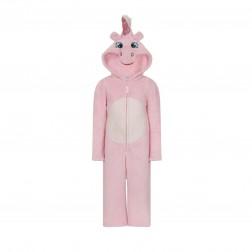 Nifty Kids Unicorn Fleece Onesie - Pink