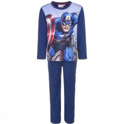 Marvel Avengers Captain America Polar Fleece Pyjamas - Blue