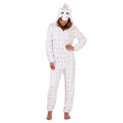 Loungeable Boutique Unicorn Star Print Onesie - White