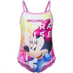 Girls Disney Minnie Mouse 'Welcome To Paradise' Pink Swimsuit