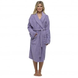 Tom Franks Cotton Towelling Robe - Lilac