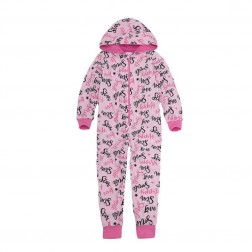 Onezee Happy/Smile Fleece Onesie - Pink