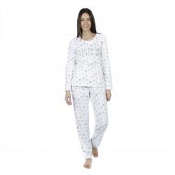 Selena Secrets Ladies 'Sleep Under The Stars' Pyjamas - White