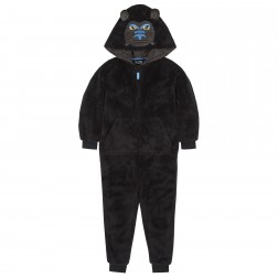 Onezee Gorilla Fleece Onesie - Black