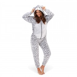 Loungeable Boutique Luxury Leopard Print Onesie