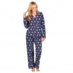 Forever Dreaming Flannel Owl Pyjama Set - Navy
