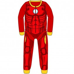 Iron Man Costume Fleece Onesie